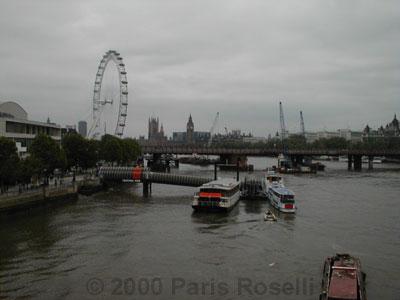 london eye skyline. You can see the Eye of London